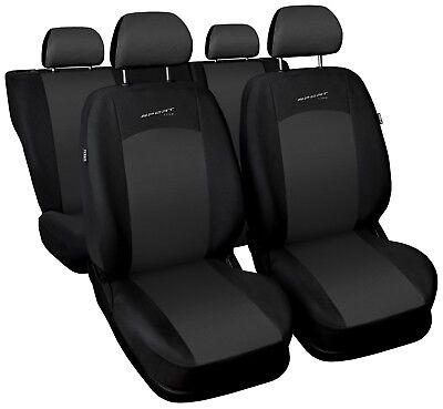 Sitzbezüge Sitzbezug Schonbezüge für Ford Focus Dunkelgrau Sportline Komplettset Auto Sitzbezüge Ford Focus