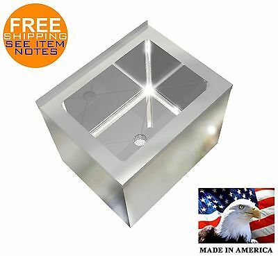 Mop Sink Heavy Duty Stainless Steel 16ga 20x16x16h Tub 12x16x12deep Made In Usa