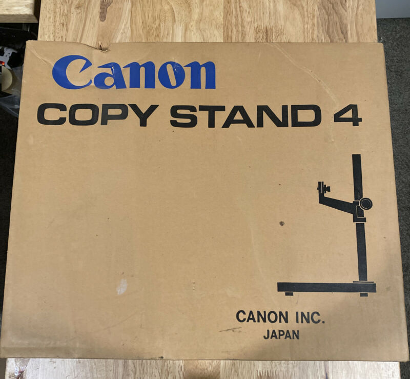 Canon Copy Stand Model 4 In Original Box Great Condition Hard To Find Piece