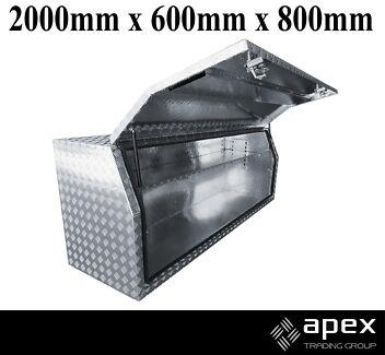BRAND NEW ALUMINIUM CHECKER PLATE TOOLBOX TOOL BOX UTE - 2068FR