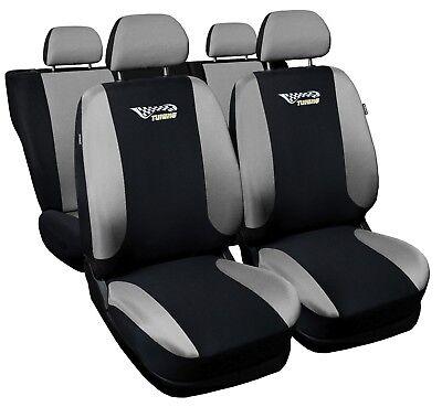 Universal Auto Sitzbezüge Sitzbezug Schonbezüge Tuning Silber Komplettset Top