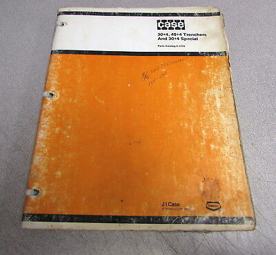 Case 304 404 Special Trenchers Parts Catalog Manual 8-1770 1983