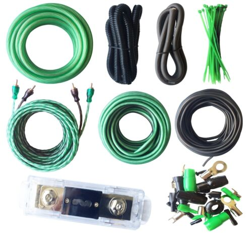 4 Gauge Amp Kit True AWG Amplifier Install Wiring 4 Ga 20 Ft Power Cable, 3500W