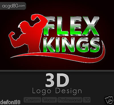 3D Logo design with Revisions + Custom,Vector,Professional,Realistic,Editable