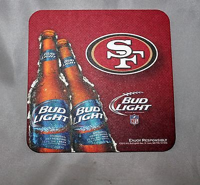 lot of 6 2013 San Francisco 49ers Coasters Farewell to Candlestick Bud Light