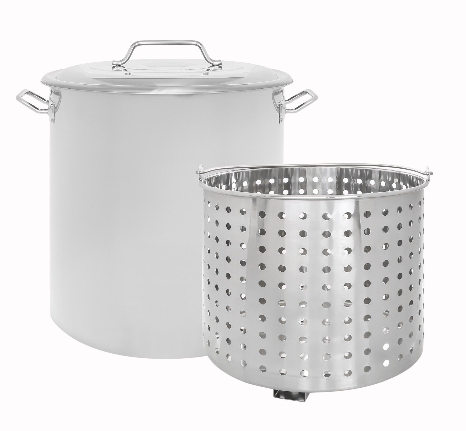 CONCORD Stainless Steel Stock Pot w/Steamer Basket Cookware