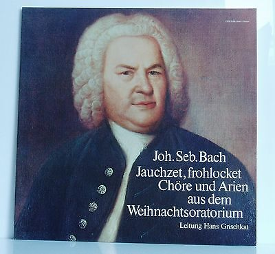 LP Bach Jauchzet Frohlocket Chöre & Arien Weihnachtsoratoium Grischkat Carus neu