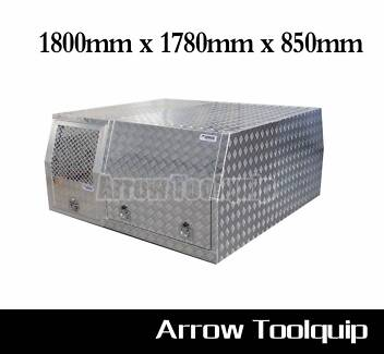 Aluminium Dual Cab Canopy with Dog Cage 1800x1780x850mm