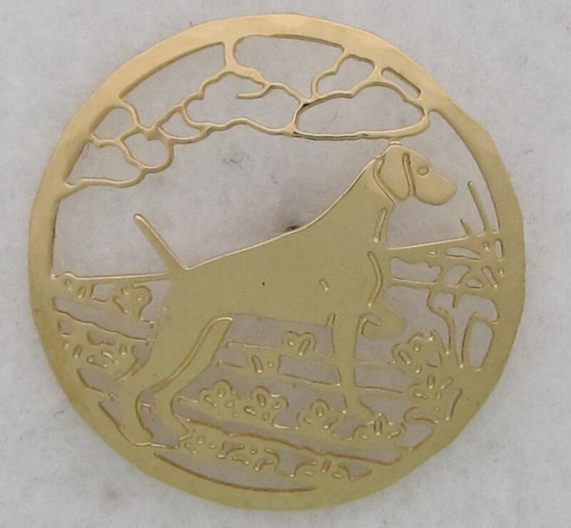 Weimaraner Jewelry Gold Pin by Touchstone