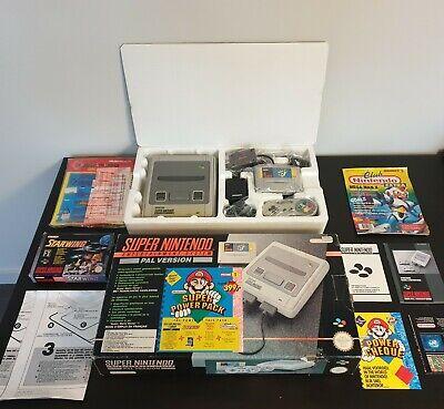 RARE NEUF SUPER NINTENDO NES SNES 16-BIT SUPER POWER PACK OVP Boxed boite FAH/HO