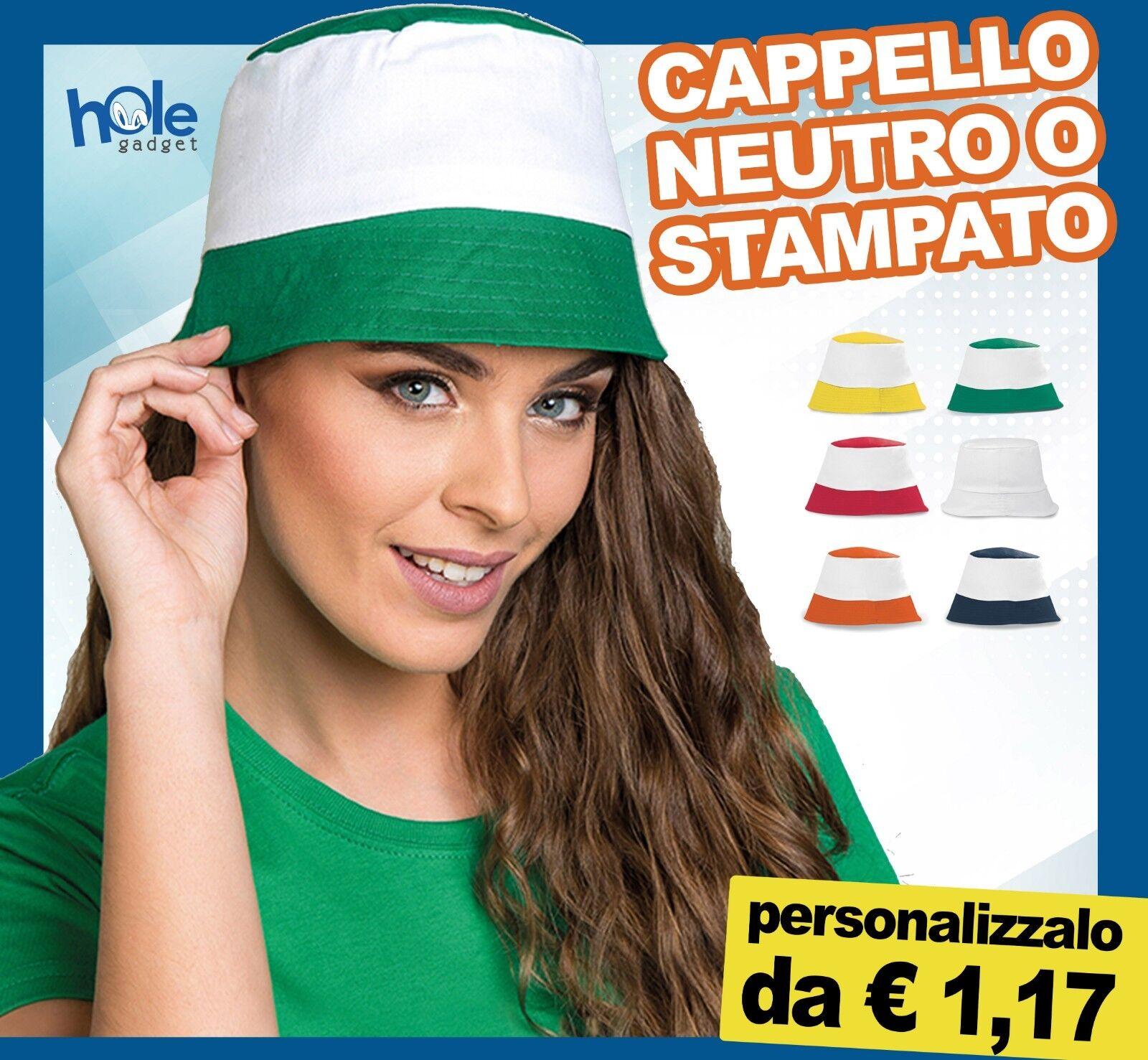 Cappello cappellini personalizzati personalizzato pescatore uomo donna bimbo