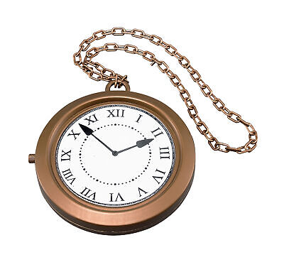 Jumbo Clock Collar Medallón Steampunk Rapero Accesorio para Disfraz