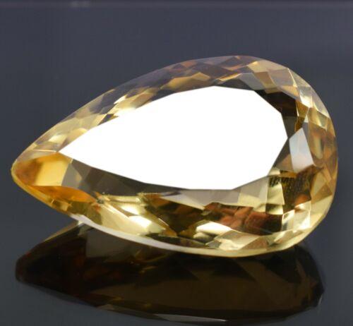 Pear Shape 68.30 Ct EGL Certified Yellow Brazilian Citrine Loose Gemstone