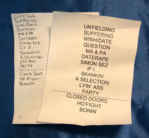 Fishbone September 10, 2010 Atlantic City, NJ Show Used Setlist