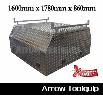Aluminium Toolbox Ute Canopy Tool box - 1600 x 1780 x 860mm