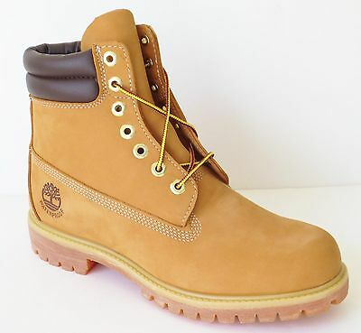 Timberland Mens 6 Inch Double Sole Premium Leather  Work Boots Style 73540 Wheat