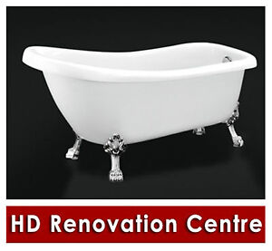 Bathroom Spa Bath Tub -- Tradition Acrylic Claw Foot Free Standing Bathtub