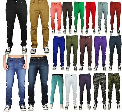 Mens Jeans Slim Fit Straight Skinny Fit Denim Trousers Casual ...