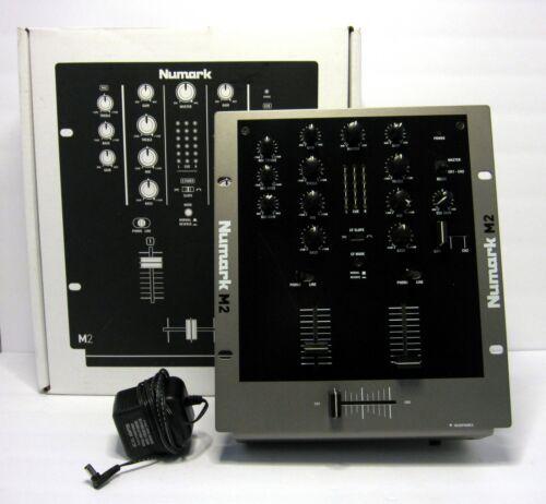 "Numark M2 Black 2-Channel 10"" Professional DJ Scratch Mixer with Box & Adapter"