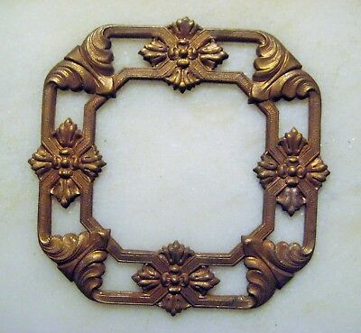 Vintage French Brass Frame Stamping, Jewelry Componenty Rare 1940s Art Nouveau