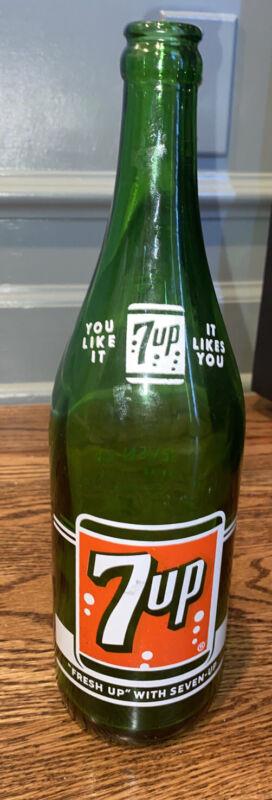 Vintage 7up Glass Bottle