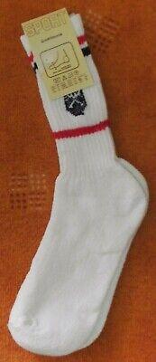 Gesundheitssocken, Gr. 10 1/2-11, weiß mit bl. und roten Streifen, neu/Etikett (Gestreifte Rote Und Weiße Socken)