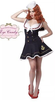 Halloween Costumes Womens Blue Nautical Doll Costume Small Size