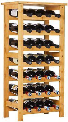 28-bottle Bamboo Wine Rack Storage Kitchen Home Decor Bar Display Shelves Holder