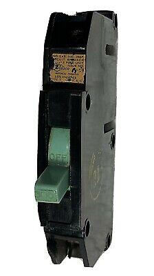 Zinsco Magnetrip Single Pole 1p 30 Amp 30a Circuit Breaker Green Switch Type T