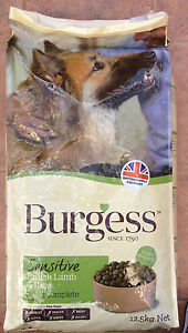 Burgess Supadog Sensitive Lamb Dog Food 12.5kg