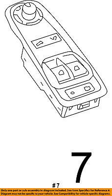 Ram CHRYSLER OEM 2014 ProMaster 1500 Front Door-Window Switch Left 1ZP76JXWAB