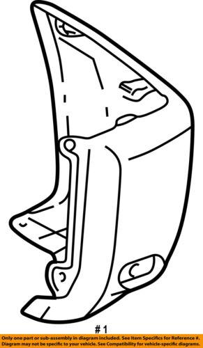 Toyota Oem 01 05 Rav4 Rear Bumper End Cover Left 5216242912