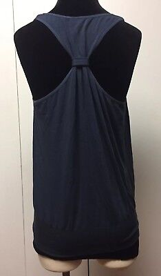 BE Current Modal Seamless Racerback Tank Top Ruching Ribbed Banded Waist Large