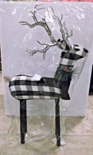 """Buffalo Check Christmas Standing 24"""" Reindeer Cloth Decor New Never used"""