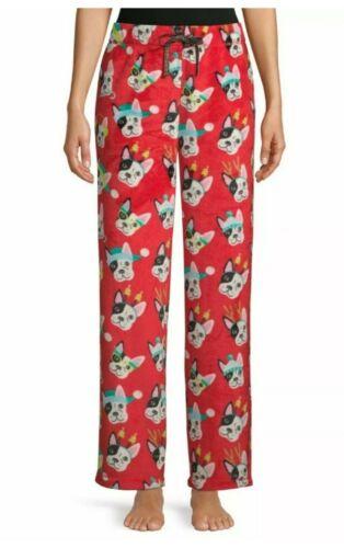 French Bulldog Fleece Pajama Bottoms Christmas Plus Size 2X