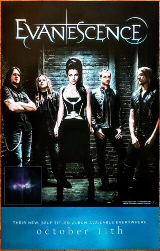 EVANESCENCE S/T Ltd Ed New RARE Tour Poster +FREE Rock Metal Poster! Synthesis