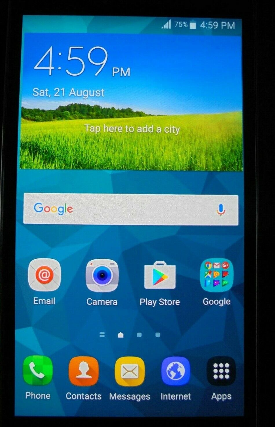Android Phone - Samsung Galaxy S5 - SM-G900I - 16GB - 4G - Black - Unlocked Excellent condition