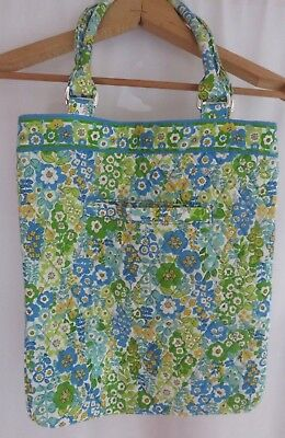 - Vera Bradley tote 100% cotton,green, blue and yellow floral design