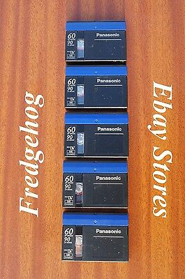 PACK of 5 x PANASONIC DVM-60 MINI DV DIGITAL VIDEO CAMCORDER TAPES / CASSETTES