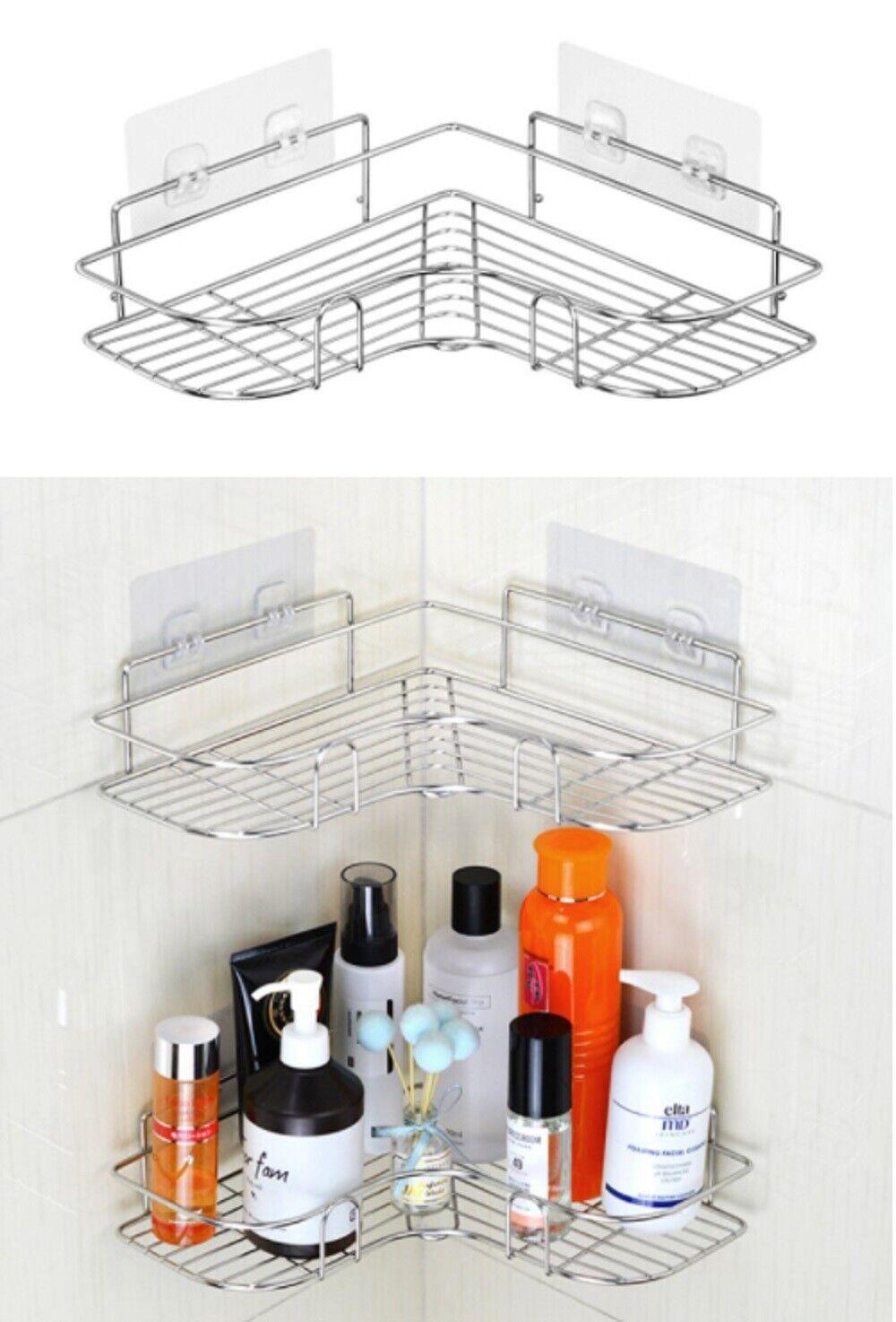 Shower Caddy Shelf Bathroom Corner Bath Storage Holder Organizer Triangular Rack Bath