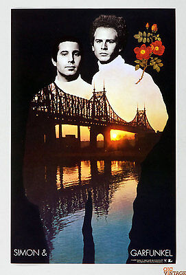 Simon and Garfunkel Poster 2001 Columbia Recording Promo 11 x 17