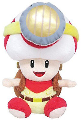 Super Mario Bros Sitting Captain Toad Plush Doll Stuffed Animal Toy 7 inch Gift](Toad Super Mario)