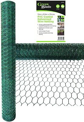 Pvc Coated Galvanised Wire Netting Mesh Netting Fencing Chicken Rabbit Aviary