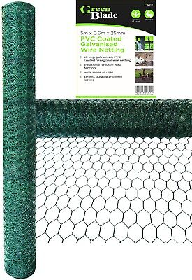 Pvc Coated Galvanised Wire Netting Mesh Netting Fencing Chicken Aviary Rabbit