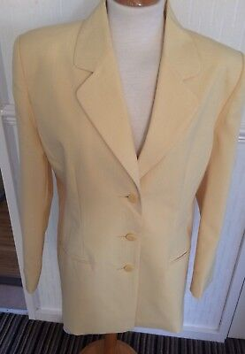 VINTAGE  80s YELLOW SINGLE BREASTED BLAZER STYLE JACKET CHEST 42""