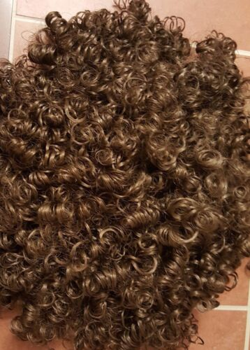 Celtic By Design Brown Wig Irish Dance Ireland Hair curl Shirley Temple costume