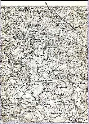 Brumath Pfaffenhofen Schweighouse 1916 Teilkarte/Ln. Schwindratzheim Hochfelden