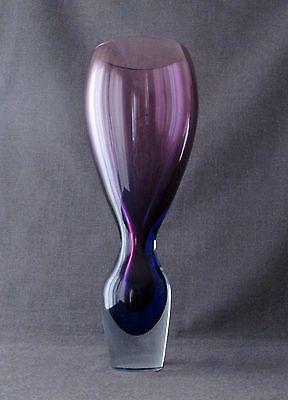 VINTAGE ANTONIO DA ROS? PURPLE, BLUE & CLEAR MURANO SOMMERSO GLASS VASE   16
