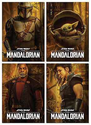 STAR WARS The Mandalorian Season 2 - 4 Card Promo Set - Mando The Child