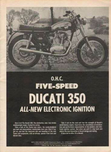 1973 Ducati 350 OHC Five Speed - Vintage Motorcycle Ad